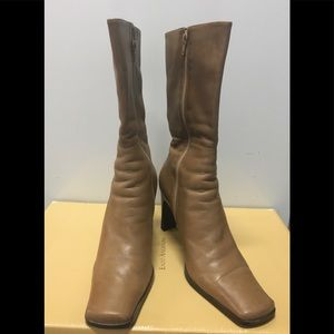 Nine West Camel Leather Boots